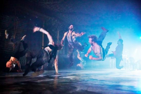 Conor Doyle, Ed Warner, Omar Gordon, Tomislav English & Vinicius Salles. Punchdrunk. The Drowned Man A Hollywood Fable. Photo Birgit & Ralf (0578)