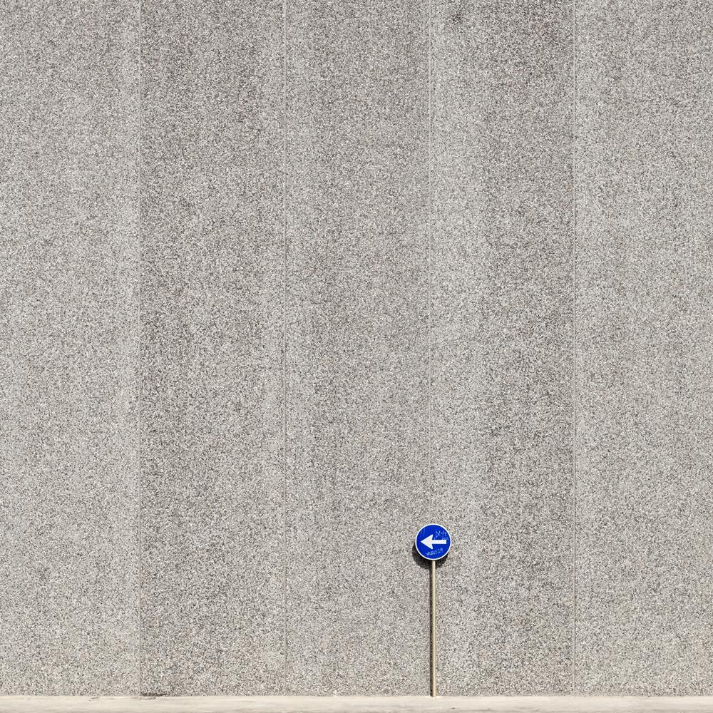 Blue traffic signal