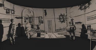 Interior rendering of the exhibition. Courtesy Ricardo Bofill Taller de Architectura. 2014