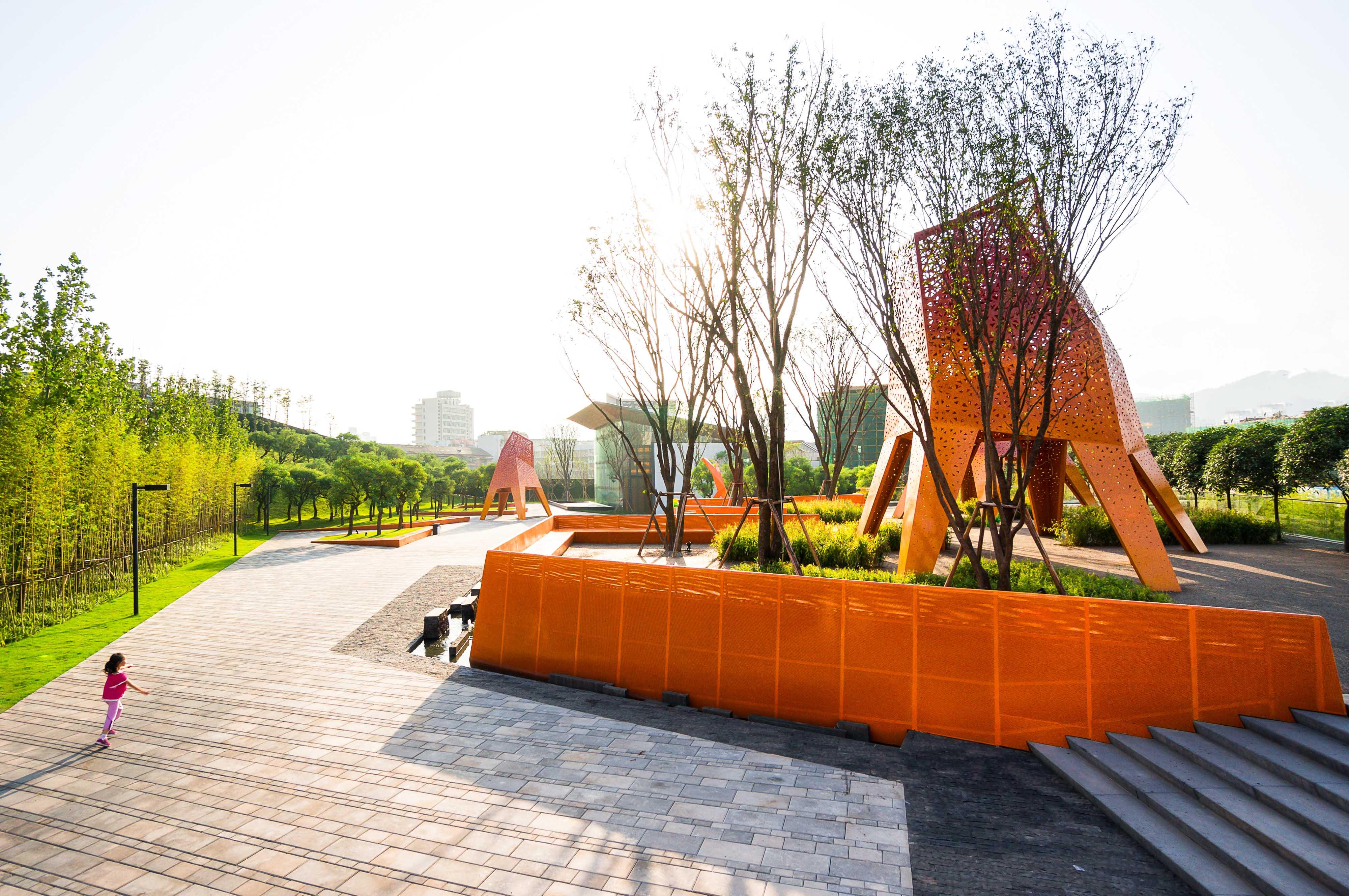 Fengming Mountain Park, Chongqing, China - Courtesy of Martha Schwartz Partners