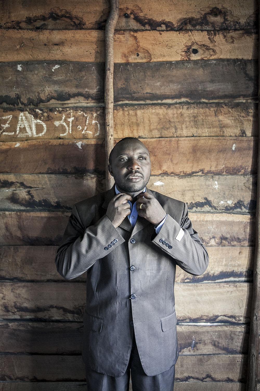 Goma, Norht Kivu.Minister Moise Munyuabumba runs the 8th CEPAC Galilaya Church.