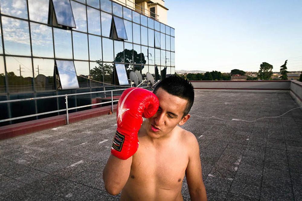 11. Antoni (Peru) is training on the roof