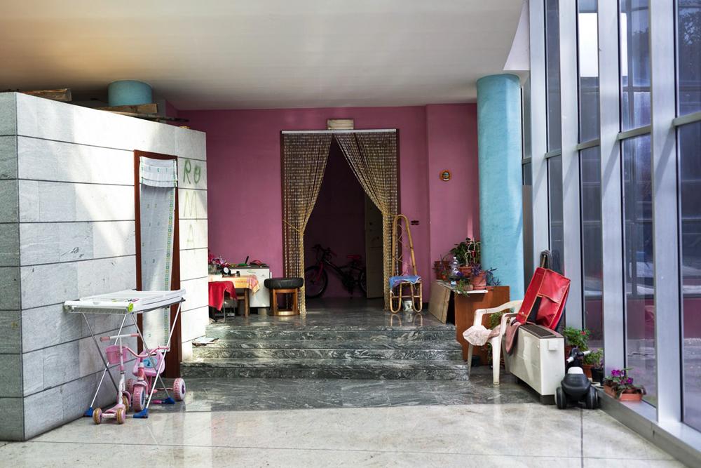 6 . A new house near the reception