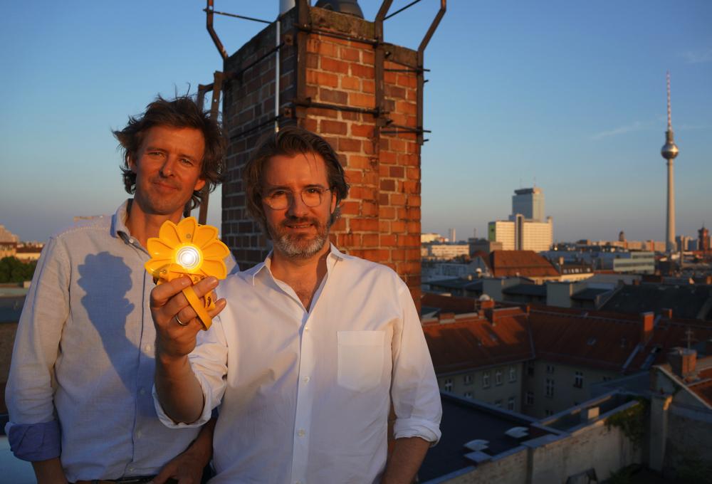 Little Sun founders Frederik Ottesen and Olafur Eliasson
